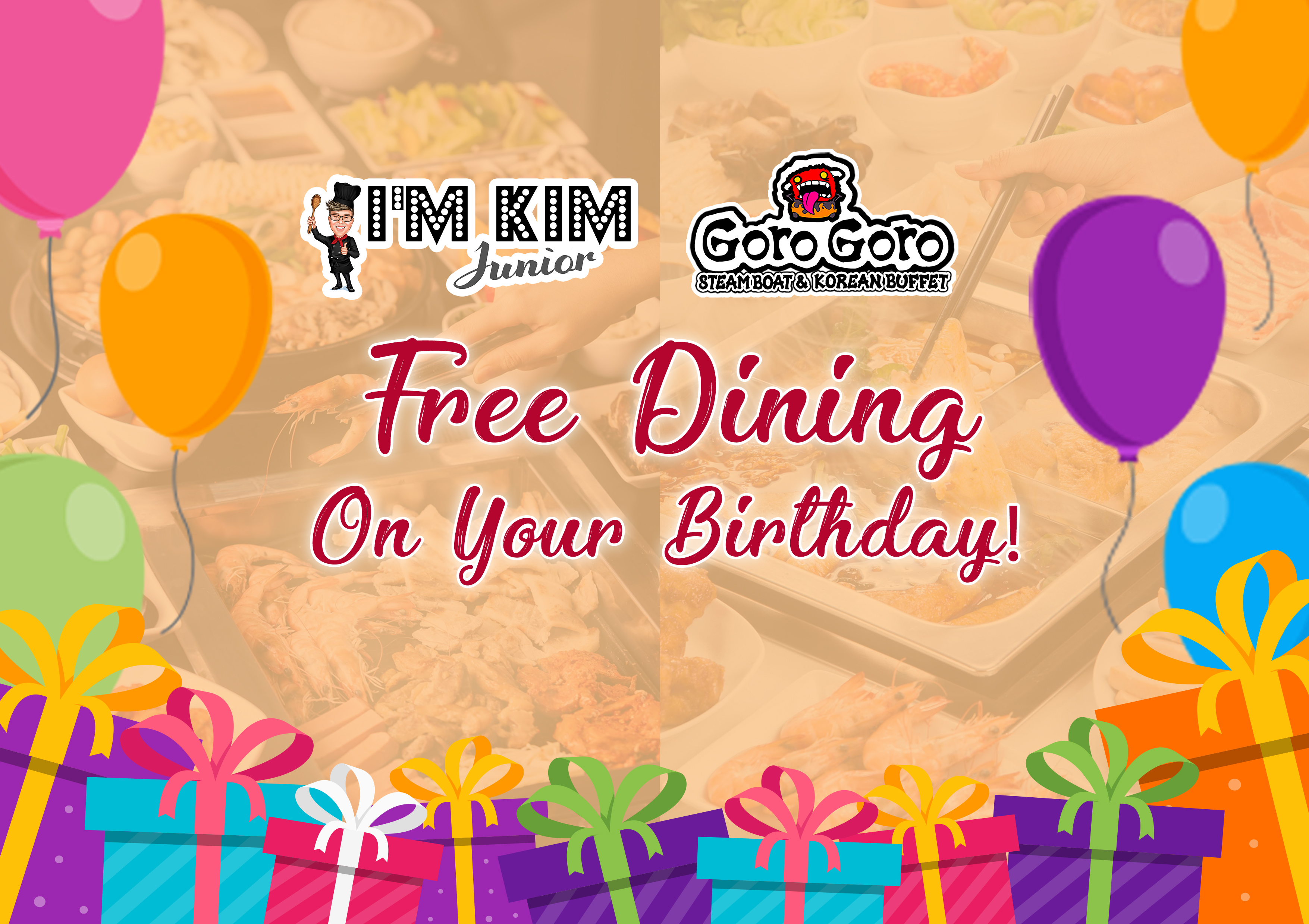 Free Dining on Birthday Artwork
