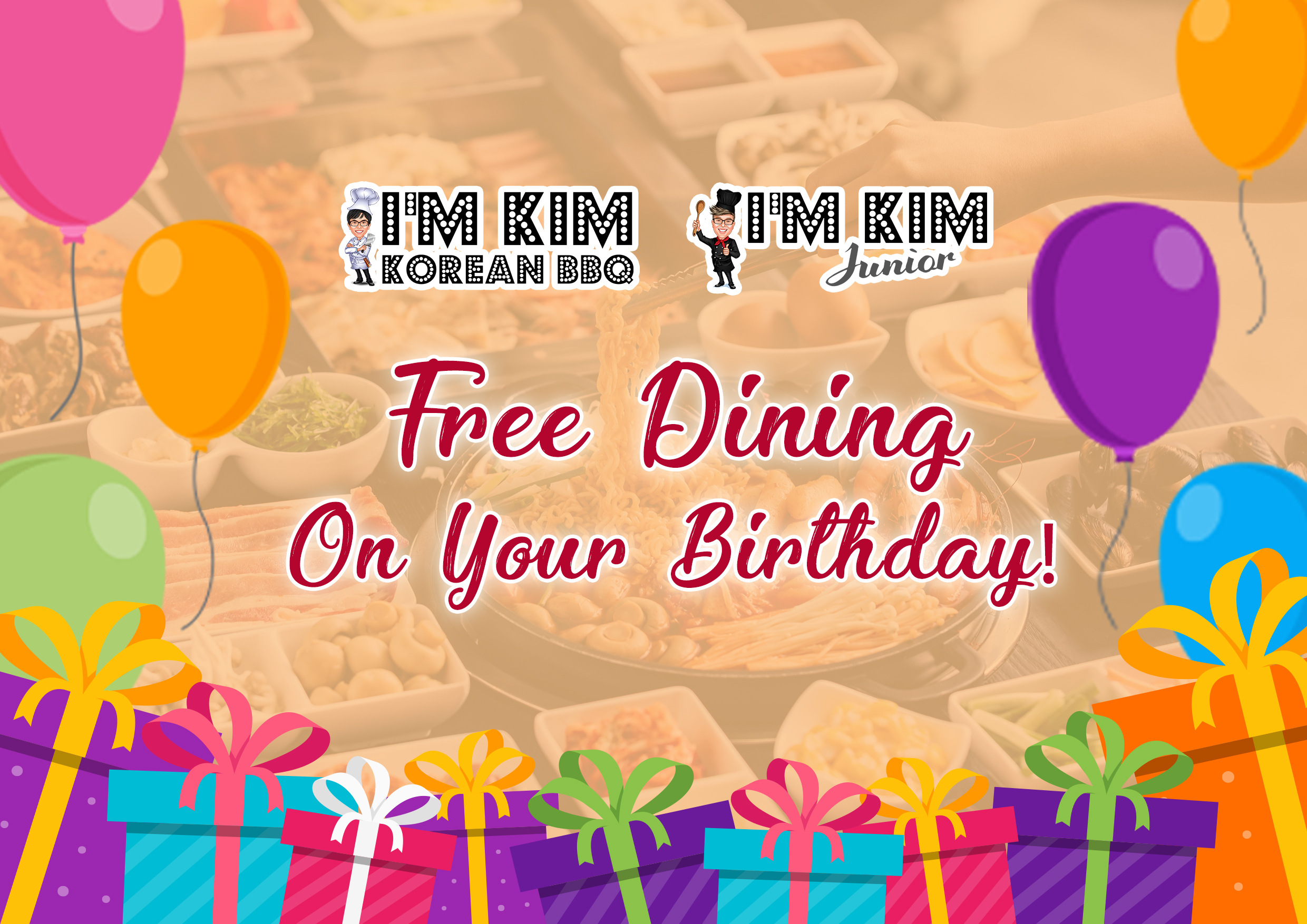 I'm Kim KBBQ & I'm Kim Junior - Free Dining on your Birthday (July 2019) - Website