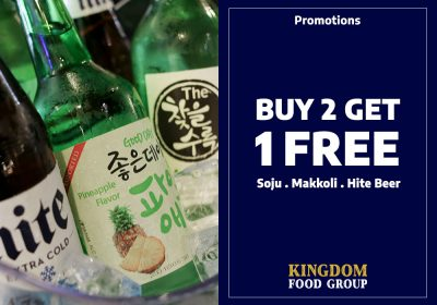 3) Promotions (Buy 2 Get 1 Free Drinks)