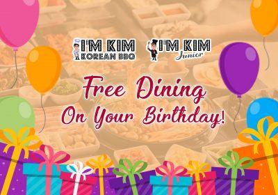 I'm Kim KBBQ & I'm Kim Junior - Free Dining on your Birthday (July 2019) - Website